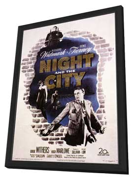 Night and the City - 11 x 17 Movie Poster - Style A - in Deluxe Wood Frame