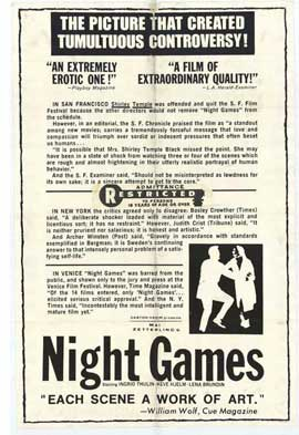 Night Games - 11 x 17 Movie Poster - Style A