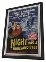 Night Has a Thousand Eyes - 11 x 17 Movie Poster - Australian Style A - in Deluxe Wood Frame
