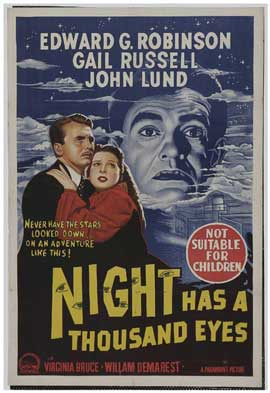 Night Has a Thousand Eyes - 11 x 17 Movie Poster - Australian Style A