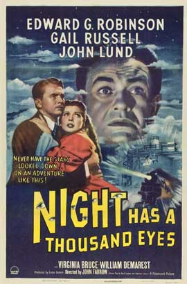 Night Has a Thousand Eyes - 11 x 17 Movie Poster - Style A