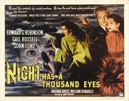 Night Has a Thousand Eyes - 22 x 28 Movie Poster - Half Sheet Style A