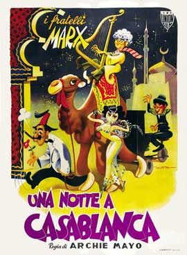 A Night in Casablanca - 27 x 40 Movie Poster - Italian Style B