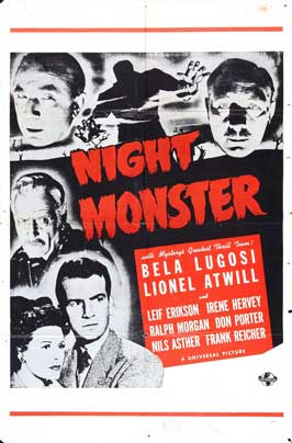 Night Monster - 27 x 40 Movie Poster - Style A
