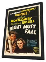 Night Must Fall - 27 x 40 Movie Poster - Style C - in Deluxe Wood Frame