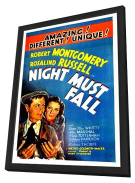 Night Must Fall - 11 x 17 Movie Poster - Style B - in Deluxe Wood Frame