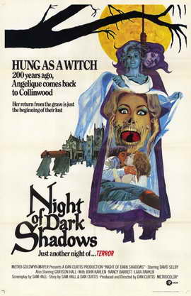 Night of Dark Shadows - 11 x 17 Movie Poster - Style A