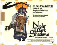 Night of Dark Shadows - 22 x 28 Movie Poster - Half Sheet Style A