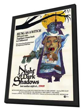 Night of Dark Shadows - 11 x 17 Movie Poster - Style A - in Deluxe Wood Frame
