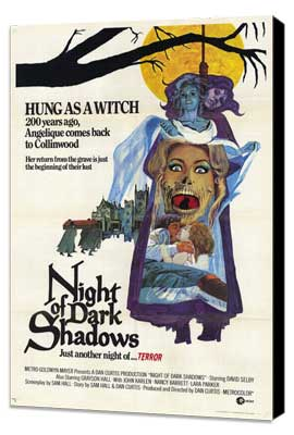 Night of Dark Shadows - 11 x 17 Movie Poster - Style A - Museum Wrapped Canvas