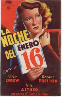 Night of January 16th - 11 x 17 Movie Poster - Spanish Style A