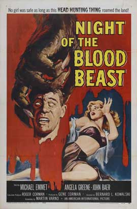 Night of the Blood Beast - 11 x 17 Movie Poster - Style A