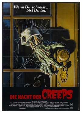 Night of the Creeps - 11 x 17 Movie Poster - German Style A