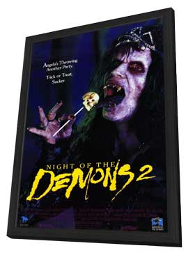 Night of the Demons 2 - 11 x 17 Movie Poster - Style A - in Deluxe Wood Frame