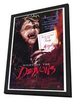 Night of the Demons - 27 x 40 Movie Poster - Style A - in Deluxe Wood Frame