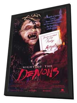 Night of the Demons - 11 x 17 Movie Poster - Style A - in Deluxe Wood Frame