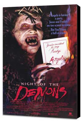 Night of the Demons - 11 x 17 Movie Poster - Style A - Museum Wrapped Canvas