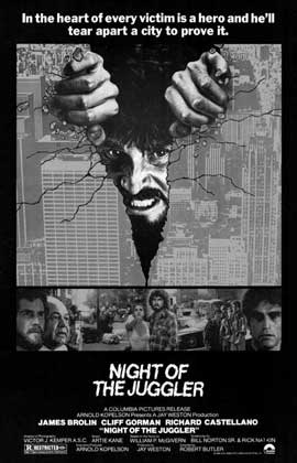 Night of the Juggler - 11 x 17 Movie Poster - Style A