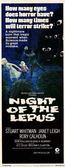 Night of the Lepus - 14 x 36 Movie Poster - Insert Style A