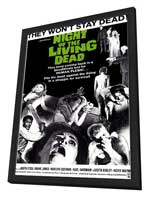 Night of the Living Dead - 11 x 17 Movie Poster - Style A - in Deluxe Wood Frame