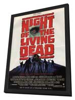 Night of the Living Dead - 27 x 40 Movie Poster - Style B - in Deluxe Wood Frame