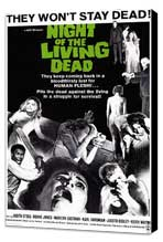 Night of the Living Dead - 11 x 17 Movie Poster - Style A - Museum Wrapped Canvas