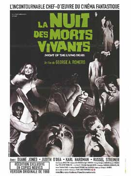 Night of the Living Dead - 27 x 40 Movie Poster - French Style A
