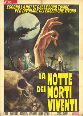 Night of the Living Dead - 11 x 17 Movie Poster - Italian Style A