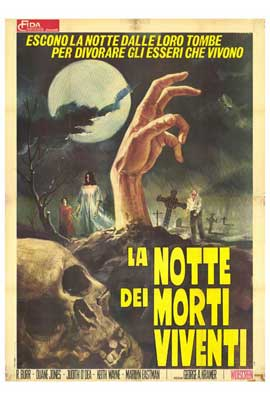 Night of the Living Dead - 27 x 40 Movie Poster - Italian Style A