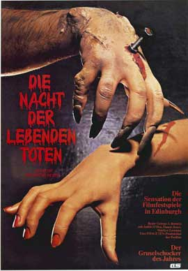 Night of the Living Dead - 11 x 17 Movie Poster - German Style A