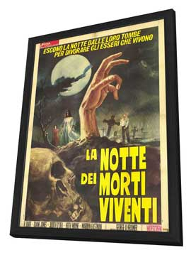 Night of the Living Dead - 11 x 17 Movie Poster - Italian Style A - in Deluxe Wood Frame