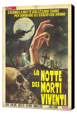 Night of the Living Dead - 11 x 17 Movie Poster - Italian Style A - Museum Wrapped Canvas