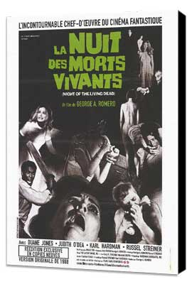 Night of the Living Dead - 27 x 40 Movie Poster - French Style A - Museum Wrapped Canvas