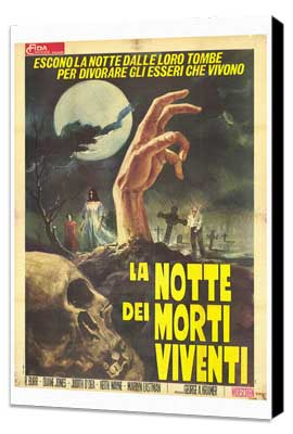 Night of the Living Dead - 27 x 40 Movie Poster - Italian Style A - Museum Wrapped Canvas