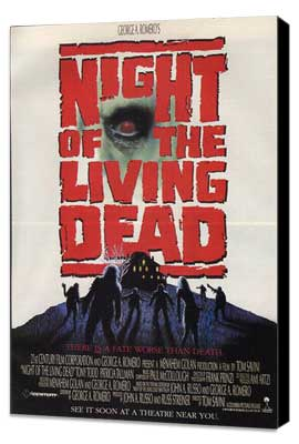 Night of the Living Dead - 27 x 40 Movie Poster - Style B - Museum Wrapped Canvas