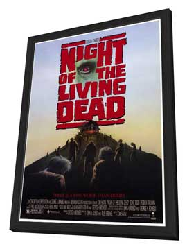 Night of the Living Dead - 27 x 40 Movie Poster - Style A - in Deluxe Wood Frame
