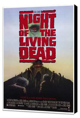 Night of the Living Dead - 27 x 40 Movie Poster - Style A - Museum Wrapped Canvas