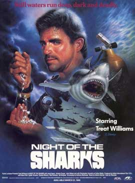 Night of the Sharks - 11 x 17 Movie Poster - Style A