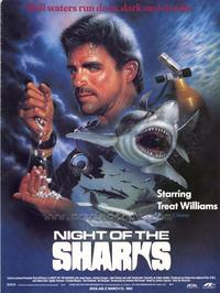 Night of the Sharks - 27 x 40 Movie Poster - Style A