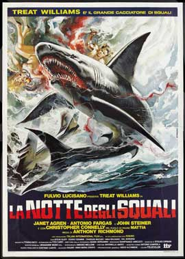Night of the Sharks - 11 x 17 Movie Poster - Italian Style A