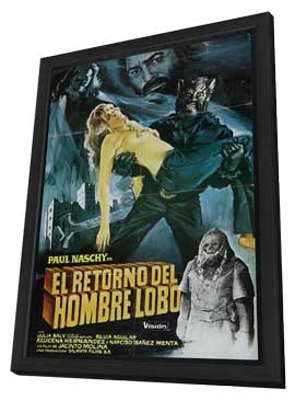 Night of the Werewolf - 11 x 17 Movie Poster - Spanish Style A - in Deluxe Wood Frame