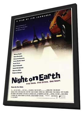 Night on Earth - 27 x 40 Movie Poster - Style A - in Deluxe Wood Frame
