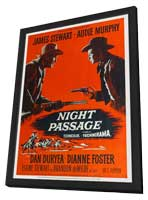 Night Passage - 11 x 17 Movie Poster - Style B - in Deluxe Wood Frame