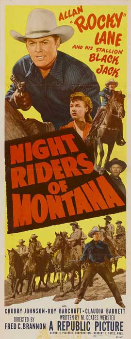 Night Riders of Montana - 14 x 36 Movie Poster - Insert Style A