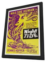 Night Tide - 11 x 17 Movie Poster - Style B - in Deluxe Wood Frame