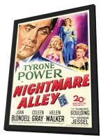 Nightmare Alley - 11 x 17 Movie Poster - Style A - in Deluxe Wood Frame