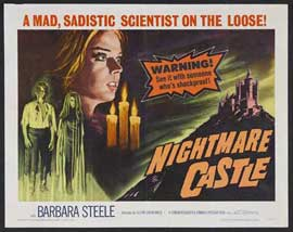 Nightmare Castle - 22 x 28 Movie Poster - Half Sheet Style A