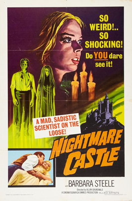 Nightmare Castle - 11 x 17 Movie Poster - Style A