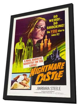 Nightmare Castle - 11 x 17 Movie Poster - Style A - in Deluxe Wood Frame