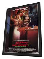 A Nightmare on Elm Street 2: Freddy's Revenge - 27 x 40 Movie Poster - Style A - in Deluxe Wood Frame